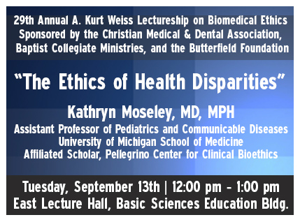 Ethics of Health Disparities Lecture