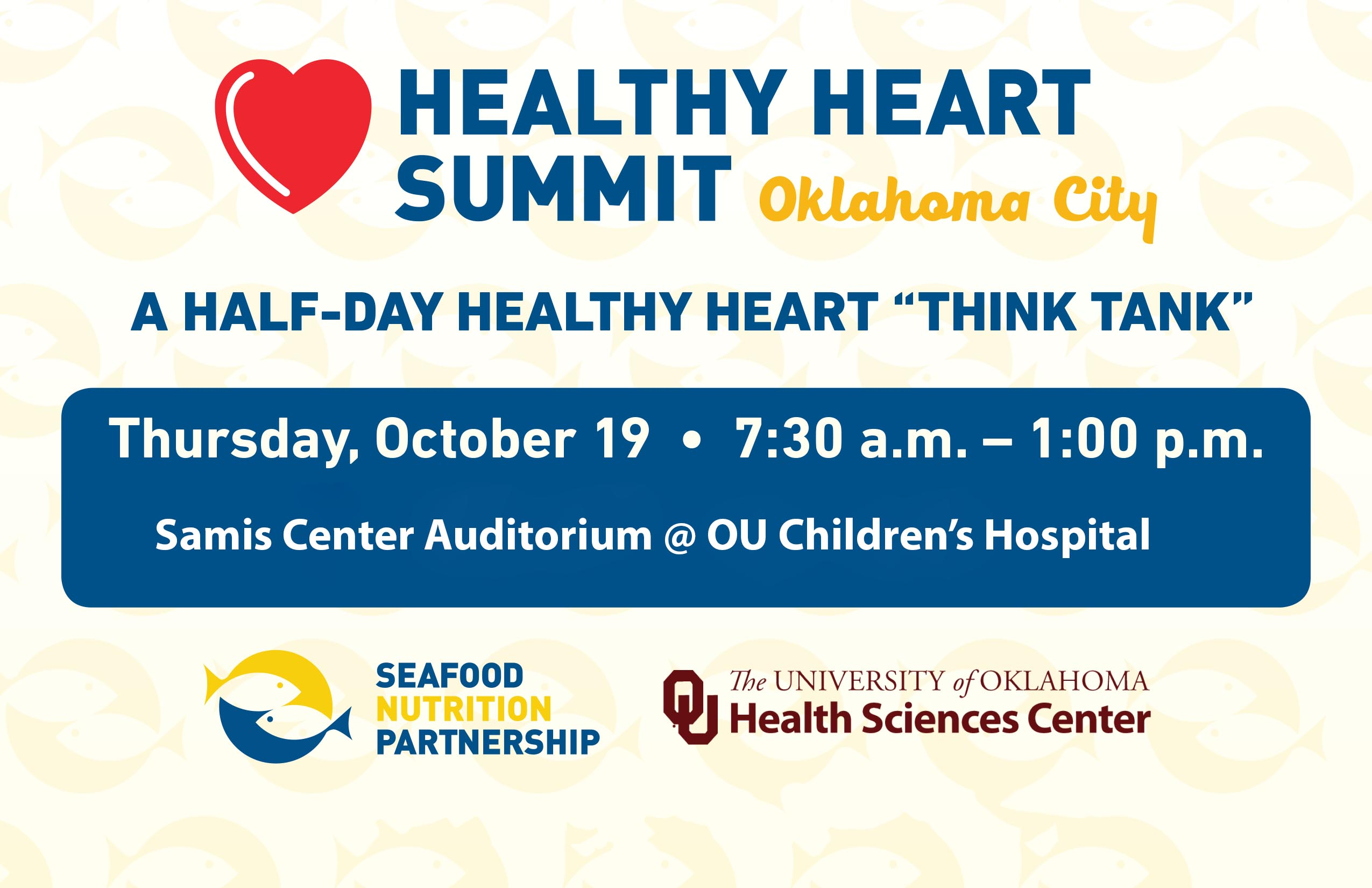 Healthy Heart Summit - Thursday Oct 19 - OU Children's Hospital