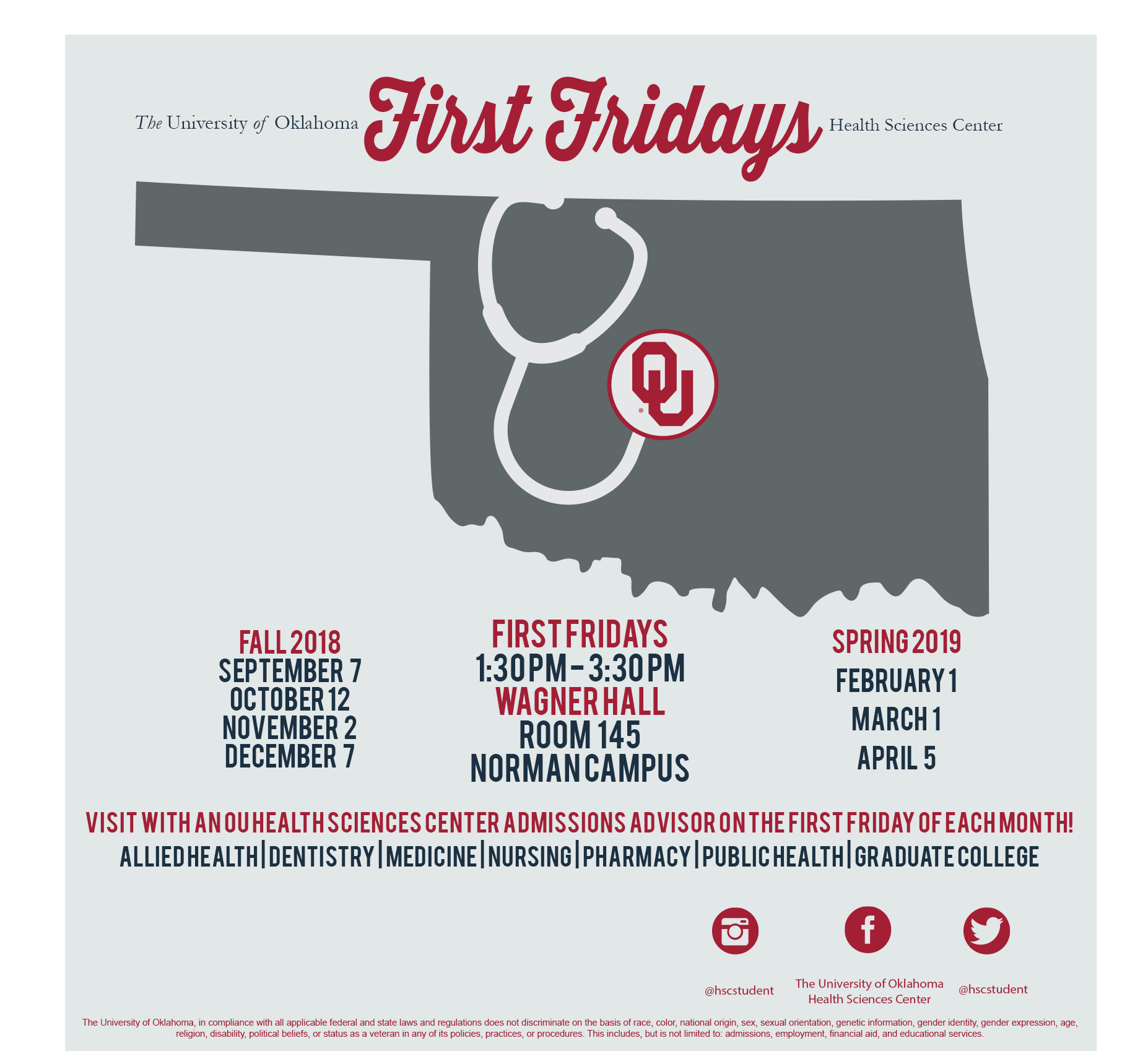 Ou Academic Calendar 2019 HSC First Fridays